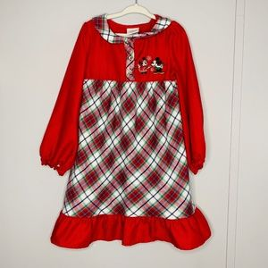 Disney Store Vintage Christmas Nightgown 4T
